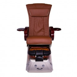PC-813 Pedicure Chair with Pipeless Magnetic Jet (White Base)