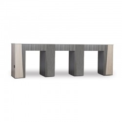 TIFFANY-DUO-TONE TRIPLE NAIL TABLE